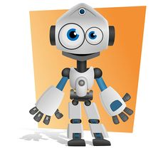 Free robot vector character suitable for a wide range of uses such as kids games, entertainment, internet and technology projects. #vector