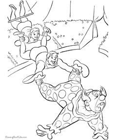 Circus Coloring Pages For Kid These Free Printable Sheets Of Pictures Are Fun Kids