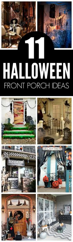 11 Halloween Front Porch Decorating Ideas featured on Pretty My Party