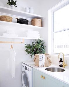 Home Interior Cuadros .Home Interior Cuadros Laundry Tubs, Small Laundry, Laundry In Bathroom, Laundry Rooms, Laundry Room Inspiration, Home Decor Inspiration, Küchen Design, House Design, Interior Design