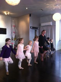 ballet studio with awesome light fixtures and silver glitter walls @ simply seleta