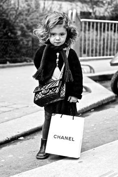 Adorable in Chanel!