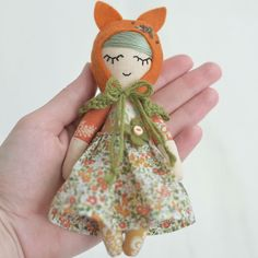 Who likes mini dolls? This cute fox girl is available in my store She is 6 inches (16 cm) tall. Swipe left to see one more photo #woodlandfriends #fox #minidoll Updated: SOLD