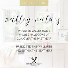 @coupleofagents || V A L L E Y ☀️V A L U E S || You heard it here first! PV Home Values have increased! Curious about the increase of the value of YOUR home? Give us a holler we are happy to fill you in so you too can #BeInTheKnow