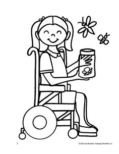 The Children With Disability Should Never Sad Coloring Page - coloring pages for mental health