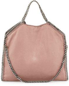 Stella McCartney Falabella Fold-Over Tote Bag, Pink (Nude)