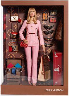 Strike a packaging pose! Vogue models pose as High Fashion Dolls