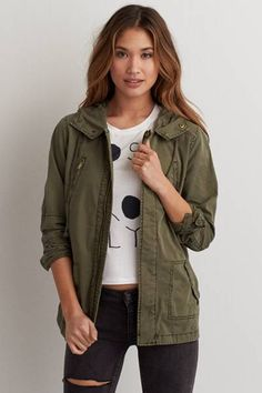 AEO Light Swing Jacket   by AEO | Perfect the art of layering with this swing jacket. Made for cooler nights.  Shop the AEO Light Swing Jacket   and check out more at AE.com.