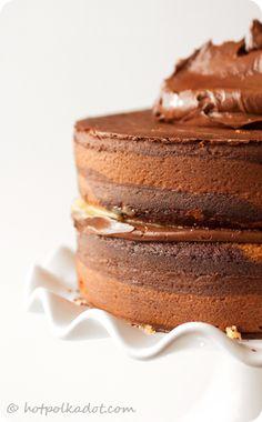 ... chocolate orange tiger cake ...