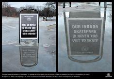 Copenhagen Skatepark: Upside down and mirrored poster
