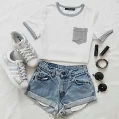 Fashion outfits for teens summer 34 Ideas Teenage Outfits, Cute Outfits For School, Teen Fashion Outfits, Cute Casual Outfits, Cute Summer Outfits, Outfits For Teens, Sport Outfits, Girl Outfits, Outfit Summer