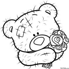 Раскраска мишка Тедди