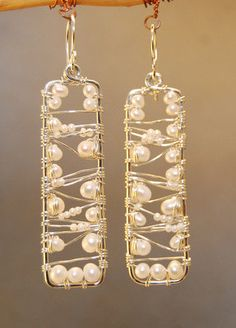 Cosmopolitan 57 Hammered earrings with Ivory by CalicoJunoJewelry