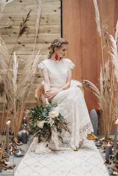 2018 bridal look book shoot from Belfast boutique Archive 12 . Bohemian bridal inspo as featured in Inspire Weddings Magazine. Bohemian Gown, Bohemian Bride, Bohemian Wedding Dresses, Bridal Looks, Bridal Style, Relaxed Wedding Dress, Bridal Wardrobe, Wedding Dress Boutiques, Grooms
