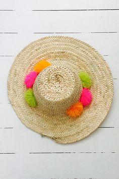 Marrakech Hat - Lime/Fuchsia/Sun