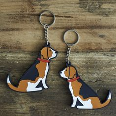 Beagle Keyring £5.95 at www.twowoofs.co.uk