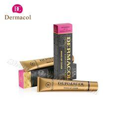 Barato 100% Original Dermacol base 30g tampa Dermacol corrector corretivo creme base de maquiagem rosto fundação cartilha…