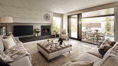modern classic house interior visualization
