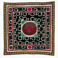 Vintage Central Asian Embroidered Textile Uzbek Suzani by rayela, $180.00
