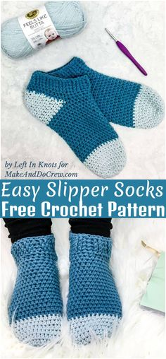 Here are some ideas of free crochet socks patterns this type. These warm and soft socks pairs are enough to keep you safe from all kind of colds. Crochet Sock Pattern Free, Easy Crochet Slippers, Basic Crochet Stitches, Crochet Basics, Free Crochet, Knit Crochet, Crochet Patterns, Crochet Toys, Crochet Ideas