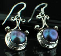 Nepalese boulder opal earrings