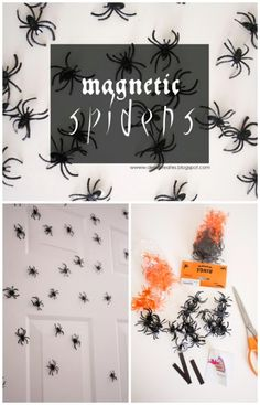 Ok, so some of us are absolutely terrified of spiders, but for those who aren't, decorating with them is great for Halloween. You can pick up a large bag of plastic spider rings at most Dollar Stores or Dollar Tree Stores for around $1.