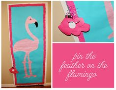 pin the feather on the flamingo - party game