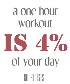 Motivation: A one hour workout is 4% of your day. No excuses. Discover The Cellulite Loss Product They Did Not Tell You About! Read my detailed review http://www.slimmingproductsonline.com/cellulite-gone-review/