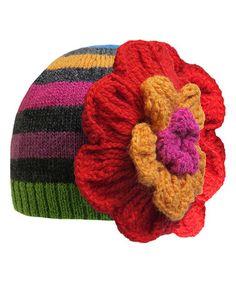 Love this Red Stripe Vivid Bloom Wool-Blend Beanie on #zulily! #zulilyfinds