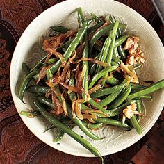 Green Beans with Caramelized Onions and Walnuts Recipe | MyRecipes.com