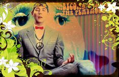 Pee wee Herman becomes one with the by rubystarrsgroovyart on Etsy