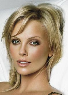 Yes its Charlize Theron, but should I have golden / tanned bridal makeup like this?