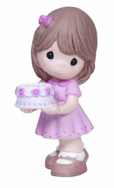 Precious Moments Birthday Gifts Birthday Blessings Bisque Porcelain Figurine 134021 -- For more information, visit image link.