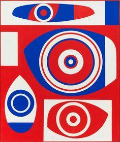 Richard Koppe (1916-1973) - Red, White and Blue (1969) oil on canvas  | Corbett vs. Dempsey