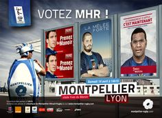 Montpellier and Lyon in Top 14 Top 14, Rugby, Sports Advertising, Lyon, A Boutique, Just For You, Ads, Baseball Cards, The Mansion