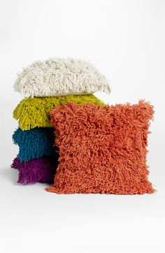 Love these fun shaggy pillows $23.98