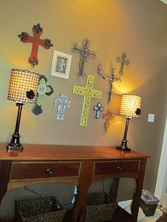 Cross wall. I love crosses and seeing all different types on one wall. I have a friend who has an awesome cross wall.