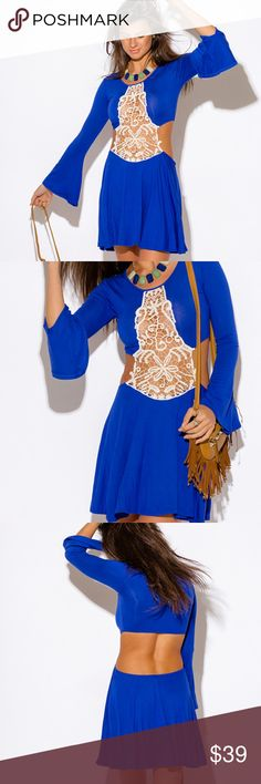 ~CROCHET CUT OUT BACKLESS BOHO PARTY MINI DRESS~ ~ARRIVING WEDNESDAY JANUARY 10TH~  ~INFO COMING SOON!~ Dresses Mini