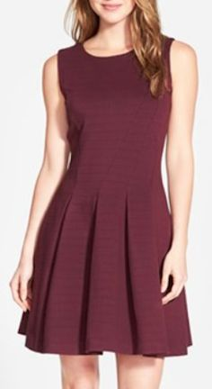cute ponte fit and flare dress