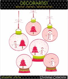 christmas clip art  Digital clip art for all by decorartist, $4.80