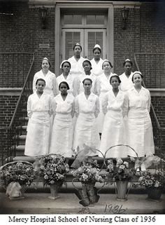 Mercy Hospital School of Nursing Class of 1936. Image courtesy of the Barbara Bates Center for the Study of the History of Nursing.