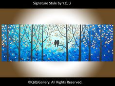 15 OFF  Owl Painting Original Acrylic Painting by QiQiGallery, $185.00