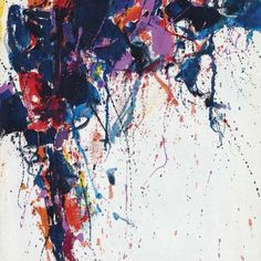 Sam Francis Untitled c. 1958 Oil on canvas 15 x 12 inches x cm Courtesy of Richard Gray Gallery Modern Art, Contemporary Art, Sam Francis, Chip Art, Art Basel Miami, Action Painting, Galleries In London, Australian Art, South America Travel