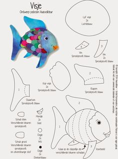 Sewing a felt colorful fishTry to make this for rainbow fish? see if any other fish diagramsLecture dun message - mail Orange PlusPersonalized miniature embroidered doll by riaparamita on Etsy - Picmiaunder the sea creatures felt templates The Rainbow Fish, Rainbow Fish Crafts, Ocean Crafts, Rainbow Fish Template, Rainbow Room, Art For Kids, Crafts For Kids, Fish Crafts Preschool, Felt Fish