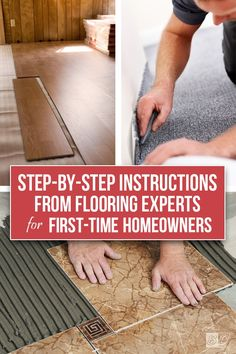Start home remodeling from the ground up! How-To tutorials and project inspirati.Start home remodeling from the ground up! How-To tutorials and project inspiration all in one place; learn how to properly install carpet, tile, wood,. Home Renovation, Home Improvement Projects, Home Projects, Home Improvements, Carpet Installation, Home Tools, Up House, New Homeowner, Home Repairs