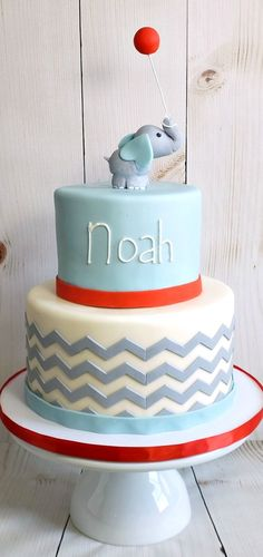 Baby Elephant Birthday Cake