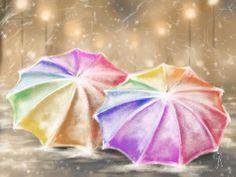 Umbrellas By Veronica Minozzi Digital Art