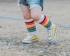 Rainbow Knee High Socks 2019 Rainbow Knee High Socks Squishy Cheeks The post Rainbow Knee High Socks 2019 appeared first on Socks Diy. Toddler Knee High Socks, Knee High Socks Outfit, High Socks Outfits, Thigh High Boots Heels, Thigh High Socks, Heel Boots, Thigh Highs, Little Kid Fashion, Kids Fashion