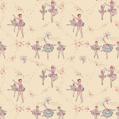 Demi Plie, Grand Plie | Custom vintage retro wallpaper