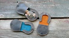 Leather Coin Purse change pouch with catch by littlewingsdesigns, $40.00